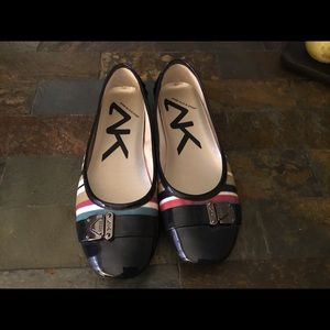 Great shoes for year round! Cute striped flats!